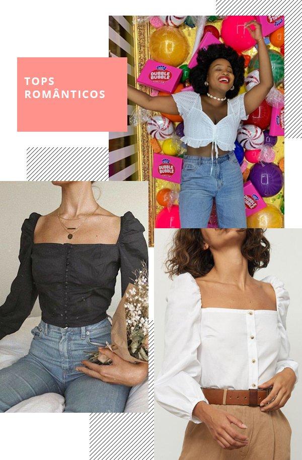 It girls - Top romântico - Top românticos - Inverno - Street Style