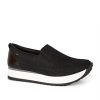 Tênis Dakota Slip On Flatform Preto