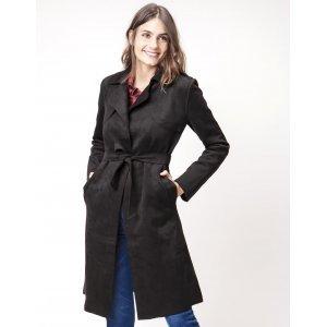 Trench Coat Feminino Suede