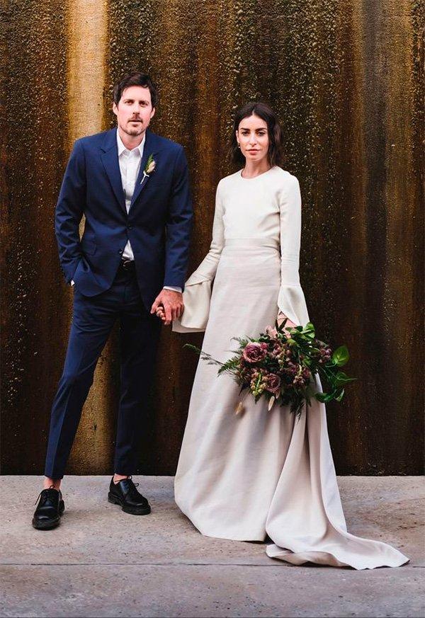 Dana Schwartz, Justin Hollar - vestido-de-noiva - noiva - inverno - street-style