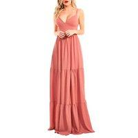 Vestido Longo Lala Dubi Franzido Rose Deluxe