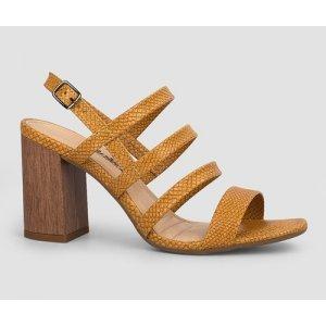 Sandália Dakota  Salto Bloco Amarela