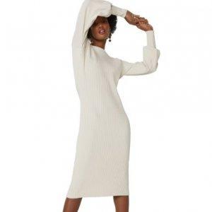 Vestido Tricot Manga Longa Decote Costas