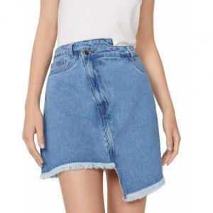 Saia Jeans Assimétrica