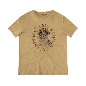 T-Shirt Manga Curta Com Estampa Localizada