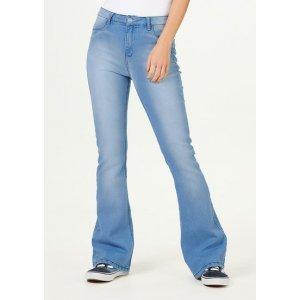 Calça Jeans Feminina Flare Push Up