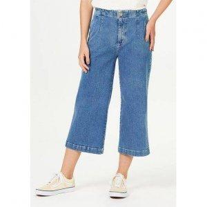 Calça Jeans Feminina Pantacourt Cintura Alta