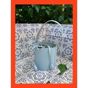 Bolsa Couro Bucket Azul - U Azul