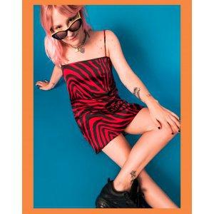 Slipdress Red Zebra Saloon 33 - G Vermelho