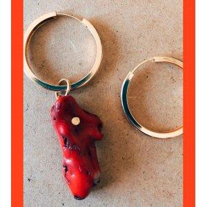 Argola Coral - U Vermelho