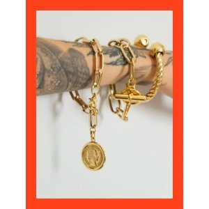 Twist Chain Mix Gold - U Dourado