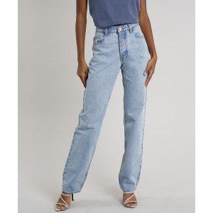 Calça Jeans Feminina Mindset Reta Azul Claro