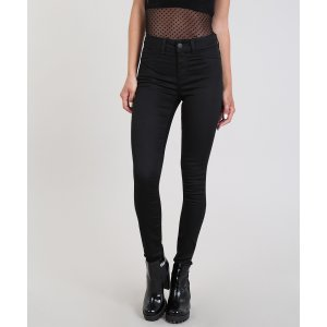 Calça Jeans Feminina Super Skinny Energy Jeans  Preta