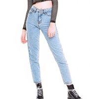 Calça Mom Jeans  80's - 38 Azul