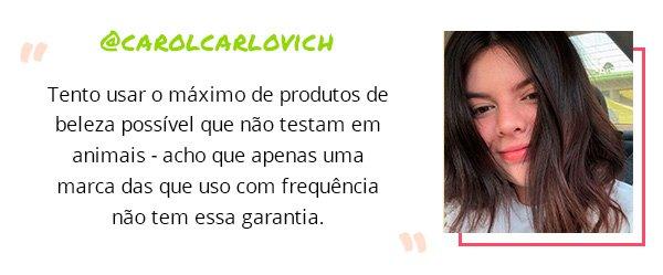 carol carlovich - sustentabilidade - habitos - dicas - planeta