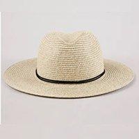chapéu feminino com cordão e tassel bege claro