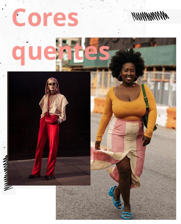 It girls - Cores - Cores quentes - Inverno - Street Style