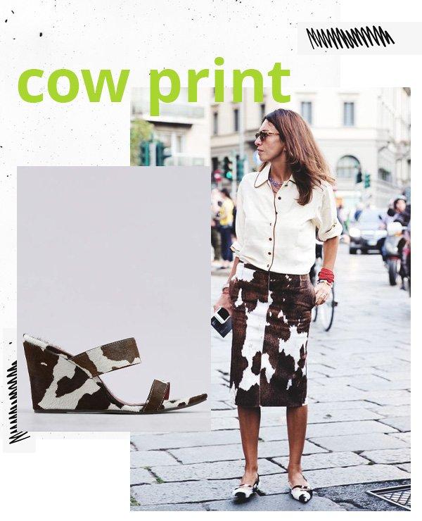 reprodução pinterest -      - cow print - verão - street style