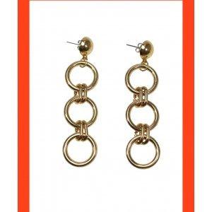 Brinco Gold Rings - U Dourado
