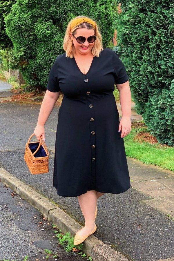 Holly Tatem-Wyatt - vestido de botões - vestido de botões - verão - street style