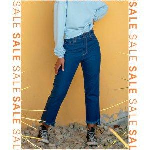 Calça Mom Jeans - 36 Azul