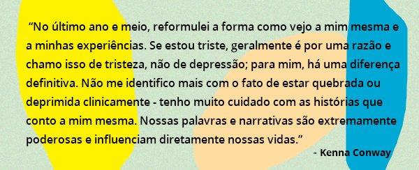 kenna conway - depressão - setembro amarelo - frase - comportamento