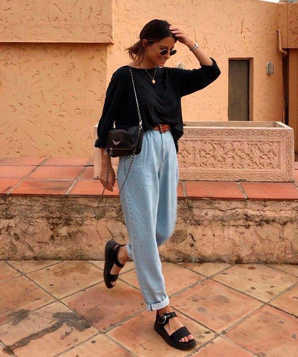 María Valdés - jeans - grandpa-jeans - verão - street-style
