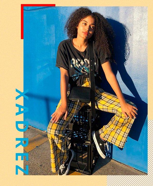 it-girl - calça-xadrez - estampas - verão - street-style