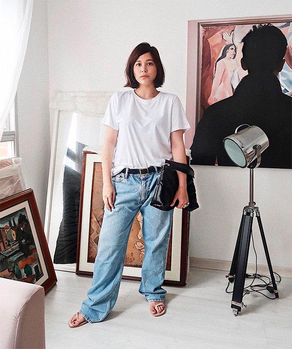 Victoria Yamagata - jeans - grandpa-jeans - verão - street-style