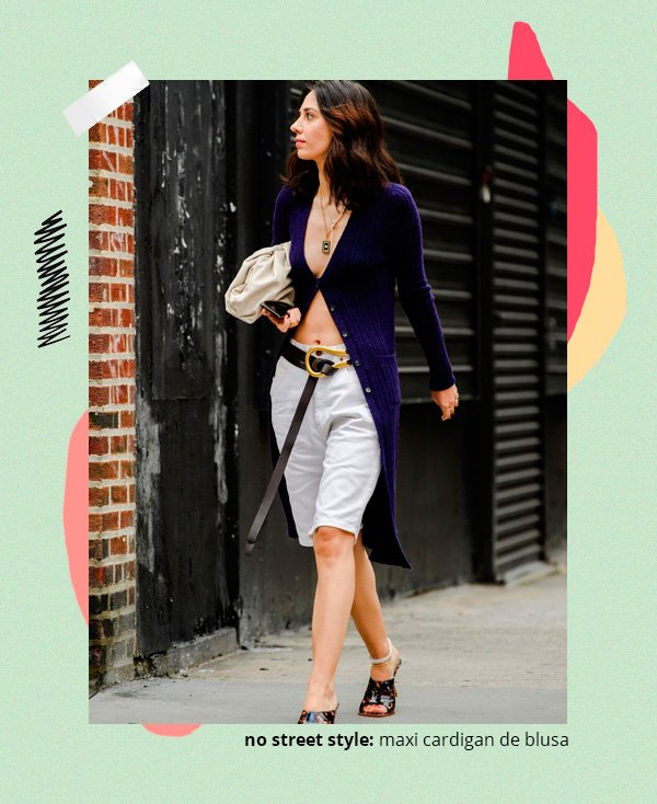 it-girl - cardigan - tricot - verão - street-style