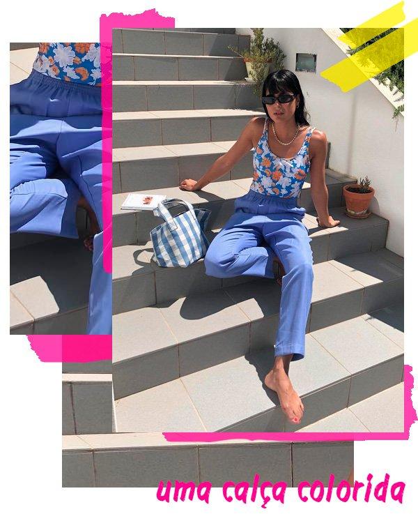 María Bernard - calça-azul - azul - verão - street-style
