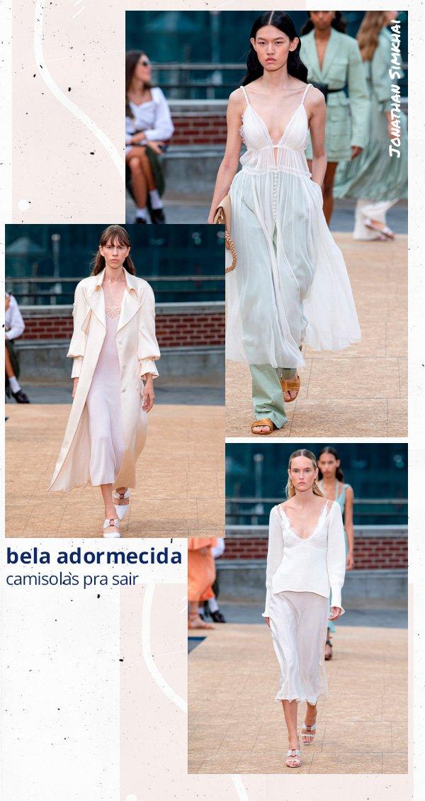 modelo - camisola - lingerie - verão - passarela