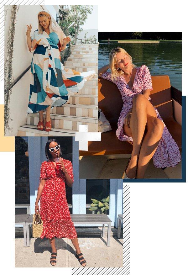 Alex Michael May, Sabina Socol, Chrissy Rutherford - vestido-envelope - vestidos - verão - street-style