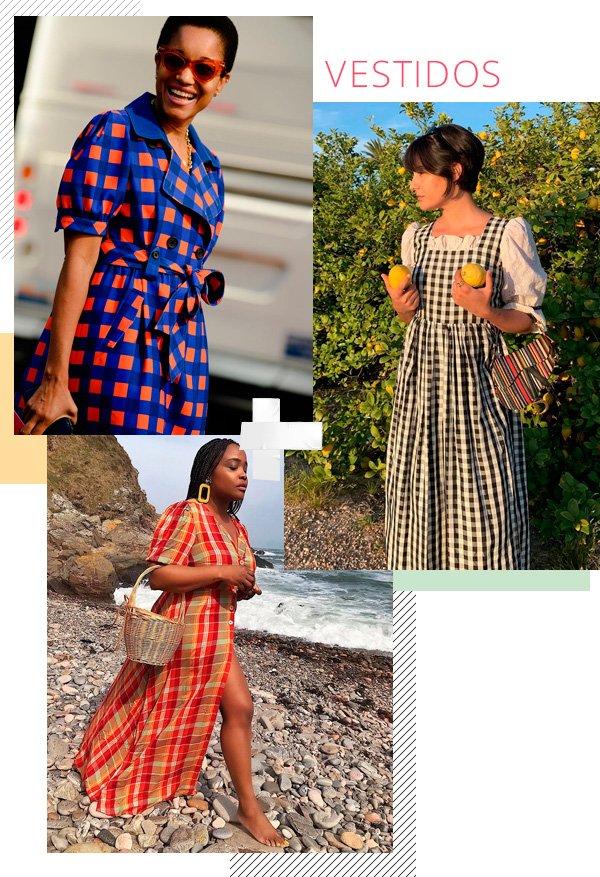 Ada Oguntodu, María Bernard - vestido-xadrez - xadrez - verão - street-style
