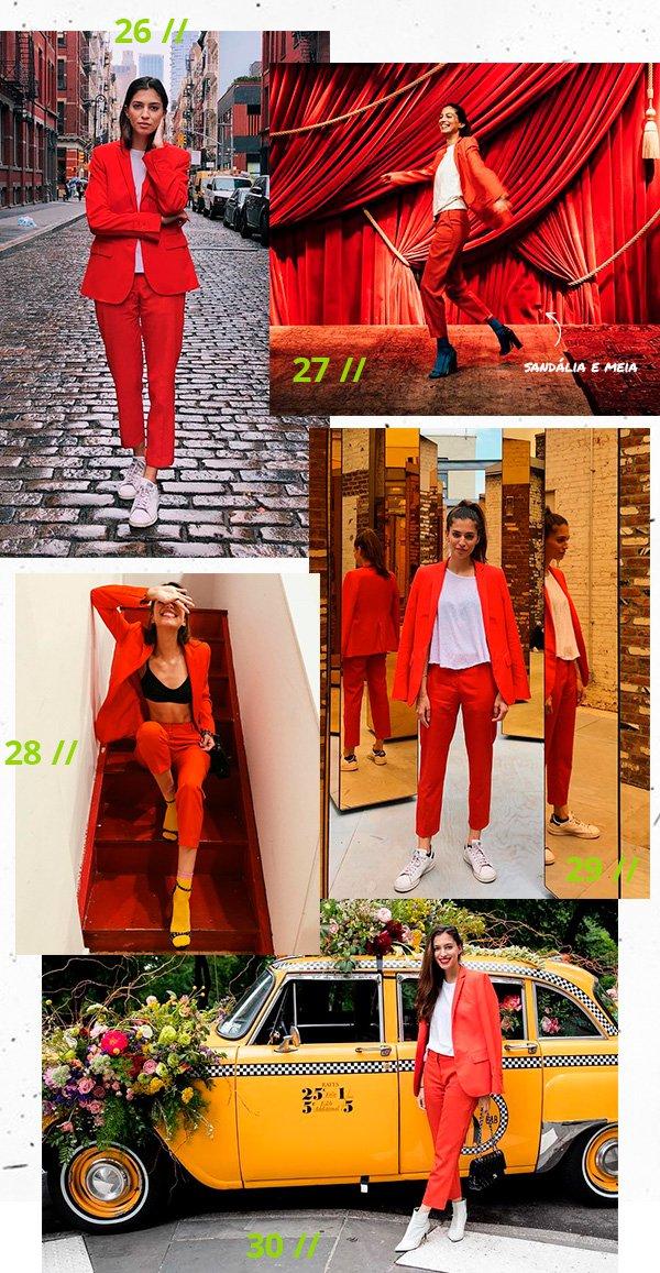 marina testino - terninho - vermelho - looks - 30 dias