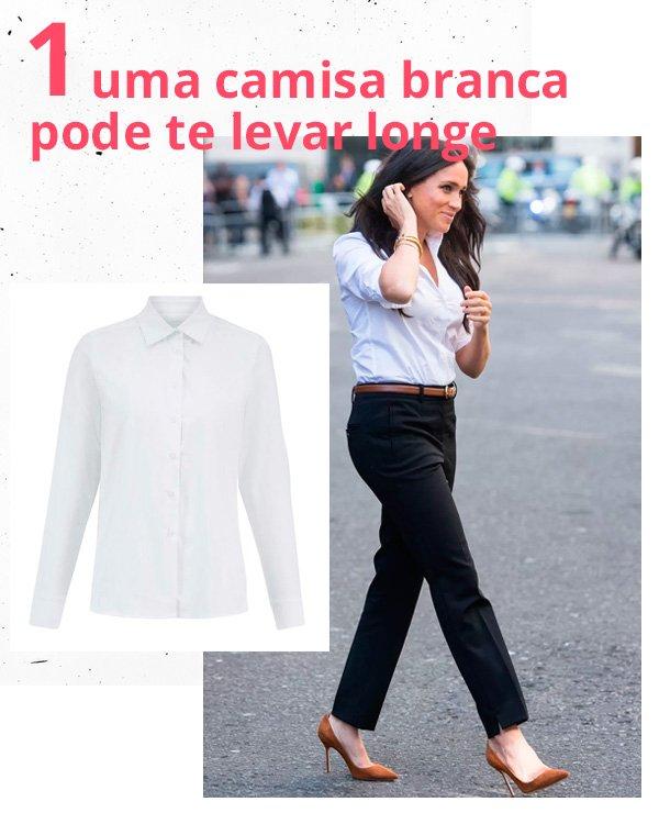 Meghan Markle - camisa-branca - camisa - verão - street-style