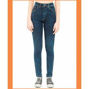 Calça Mom Jeans  Dark - 42 Azul