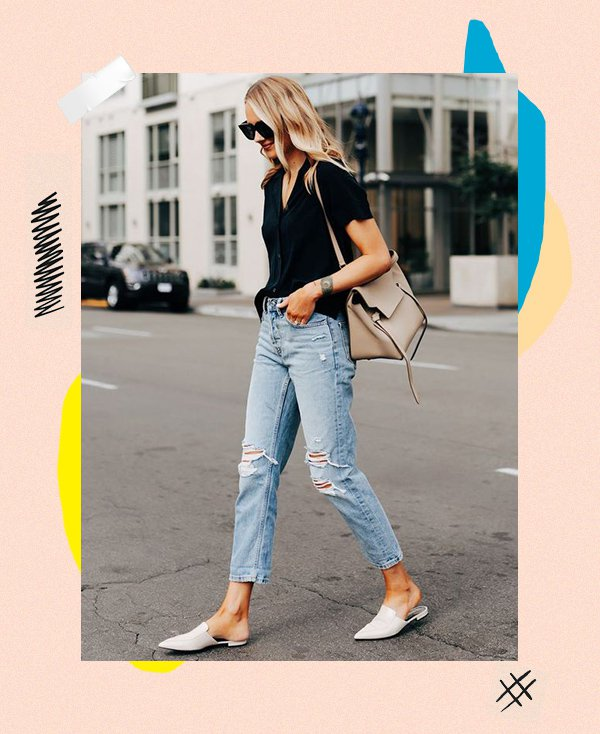 It girl - Jeans - Mule flat - Inverno - Street Style