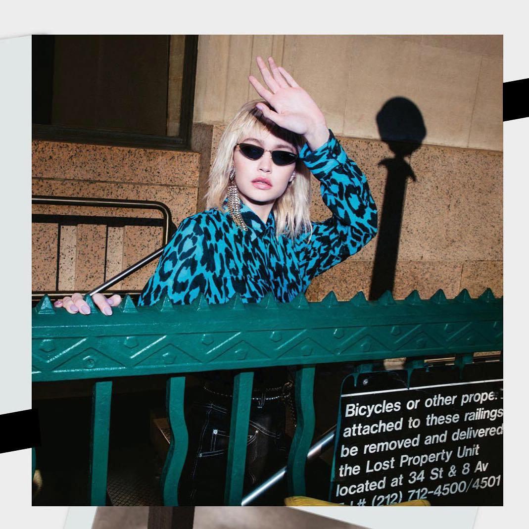Gigi Hadid - óculos escuros - óculos escuros - Verão - Street Style