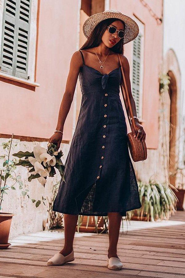 Onyi Moss - vestido - vestido de botões - verão - street style