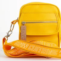 SHOULDER FAUX LEATHER YELLOW