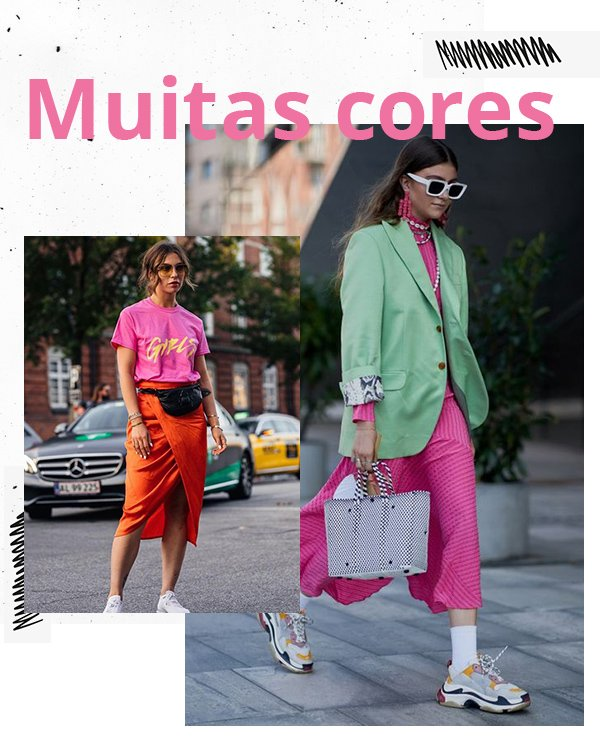 It girls - Cores - Maximalismo - Inverno - Street Style