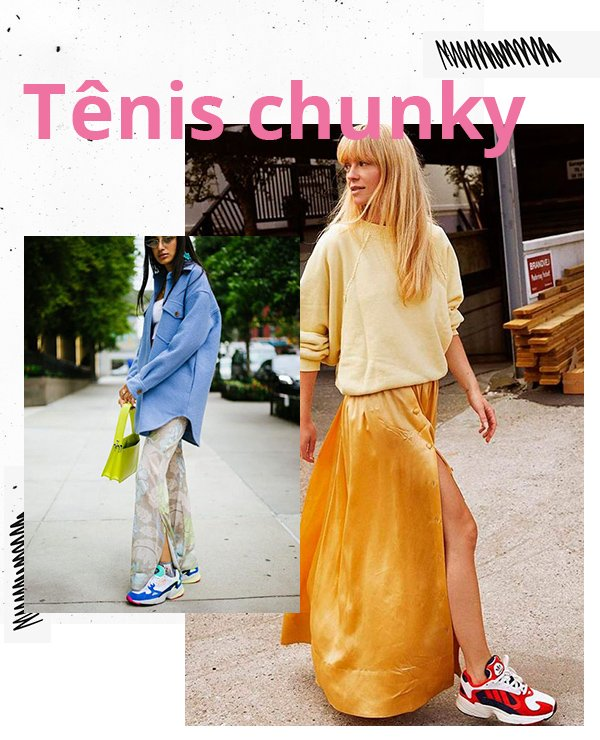 It girls - Tênis chunky - Maximalismo - Inverno - Street Style