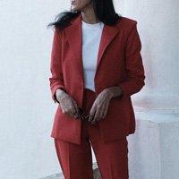 Blazer Oversized Rouge - M Vermelho