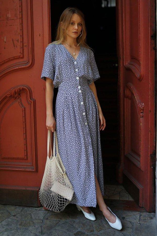 reprodução pinterest - vestido de botões - vestido de botões - verão - street style