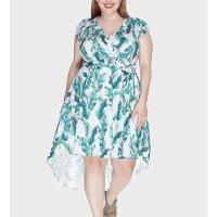 vestido assimétrico zadar plus size - verde-48/50