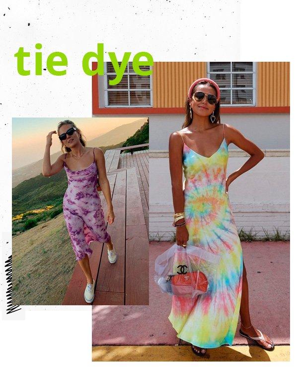 Lucy Williams, Julie Sarinana - vestido - tie-dye - verão - street-style
