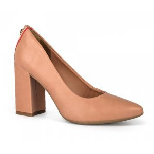 Sapato Dakota  Scarpin Salto Bloco Nude