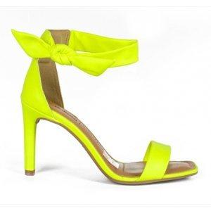 Sandália Dakota  Salto Médio Amarelo Neon