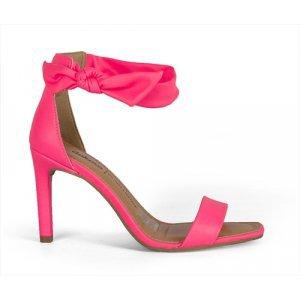 Sandália Dakota  Salto Médio Rosa Neon